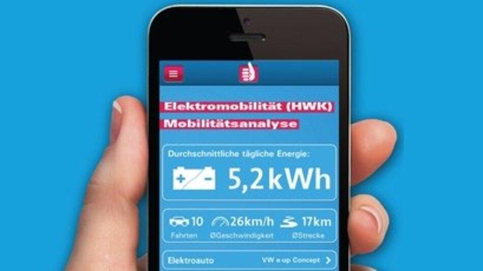 Die App eM Analyse zeigt, welches Elektroauto am besten zum persönlichen Fahrverhalten passt.