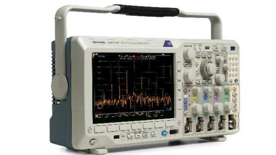 In der Maximalausstattung können die Oszilloskope der MDO3000-Serie von Tektronix einen Spektrumanalysator, Logikanalysator, Protokollanalysator, einen Arbiträr-Funktionsgenerator und ein digitales Voltmeter enthalten.