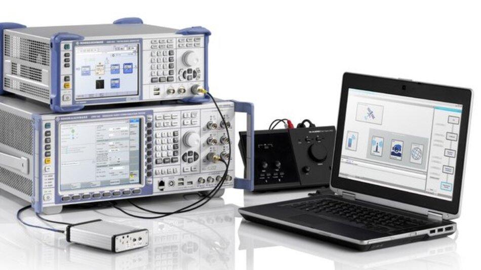 Testlösung für E-Call-Systeme von Rohde & Schwarz.