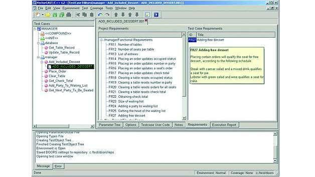 Bild 4: Das Testautomatisierungstool sollte die Möglichkeit bieten, jeden Testfall mit dem zu testenden Quellcode zu verknüpfen