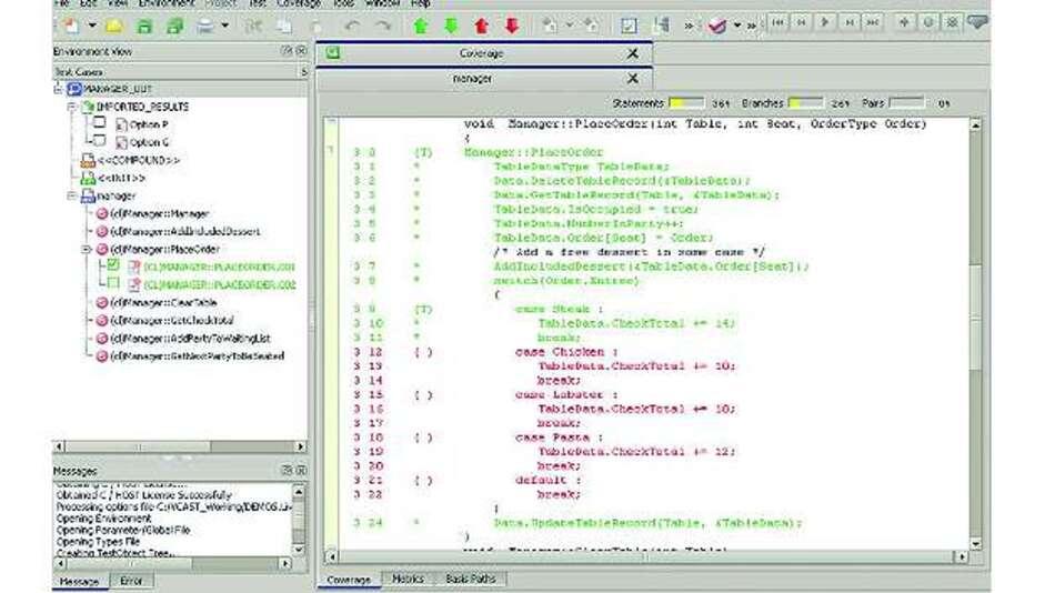 Bild 5: Ein Werkzeug zur Testautomatisierung sollte jede Code Coverage direkt mit einem einzelnen bereits durchgeführten Testfall verbinden können