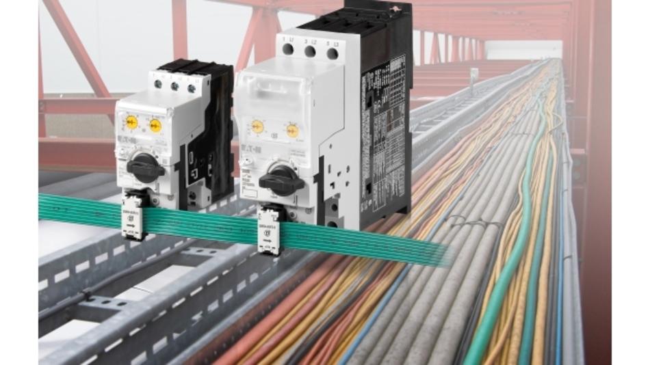 Der PKE Motorschutzschalter kann in einen Leistungsschalter zum Schutz von Kabel und Leitungen verwandelt werden.