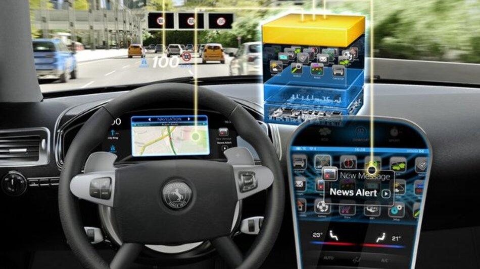 Mit Hilfe von Virtualisierungstechniken können auf einem Steuergerät unterschiedlichste Anwendungen laufen.