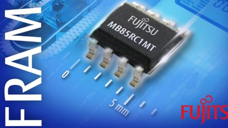 Die stromsparende Datenprotokollierung in der industriellen Automation adressiert Fujitsus 1-MBit-FRAM-Baustein MB85RC1MT.