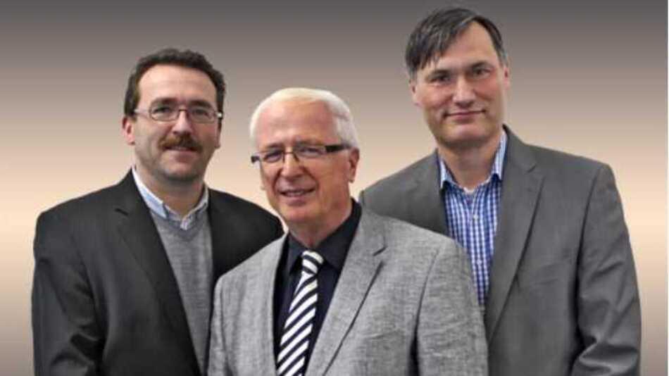 Dirk Hübner (li.) und Karsten Grönwoldt (re.) übernehmen ab 2014 die Geschäftsführung. Unternehmensgründer Dr. Claus Dittrich (mi) ist Beiratsvorsitzender.