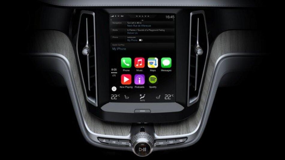 """""""CarPlay"""" kommt bei Volvo erstmals im neuen XC90 zum Einsatz."""