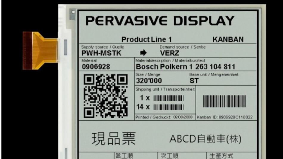 Stromsparend und auch bei Sonnenlicht gut ablesbar sind PDIs E-Paper-Displays im Vertrieb von MSC Technologies.