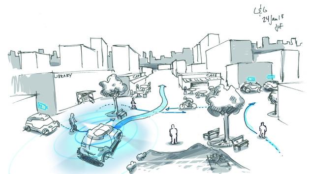 Mobilität der Zukunft: Das Fahrzeug kommt, wenn es gerufen wird.