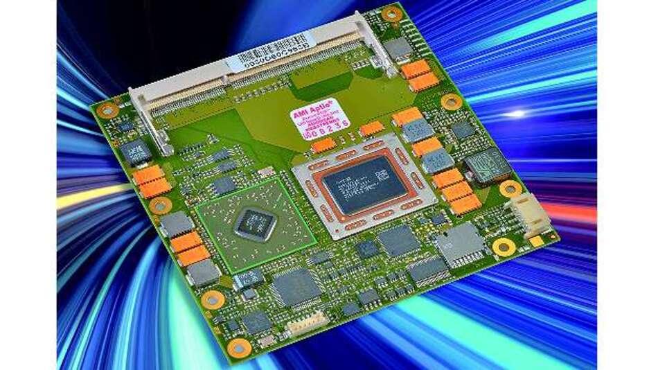 Bild 2: Auf einer »Embedded R Series«-APU basiert die COM-Express-Typ-6-Modulfamilie »C6C-A7«