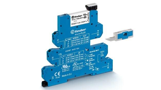 In fünf Versionen lieferbar sind Finders nur 6,2 mm breiten Interface-Koppelrelais-Module der Serie 39.