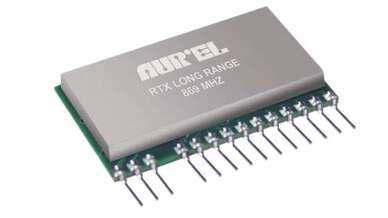 Funktransceiver für das 868-MHz-Band von Aurel, erhältlich bei Endrich