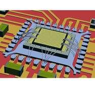 Bild 2: Chip-on-Chip-Montage von VCSEL-Array und Treiber-IC