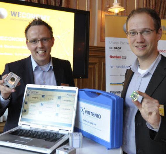 Thomas Henn (l.) und Dr. Henri Kretschmer (r.) von Virtenio.