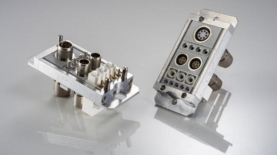 Durch die flexible Modulbauweise können Kunden den Steckverbinder individuell konfigurieren.