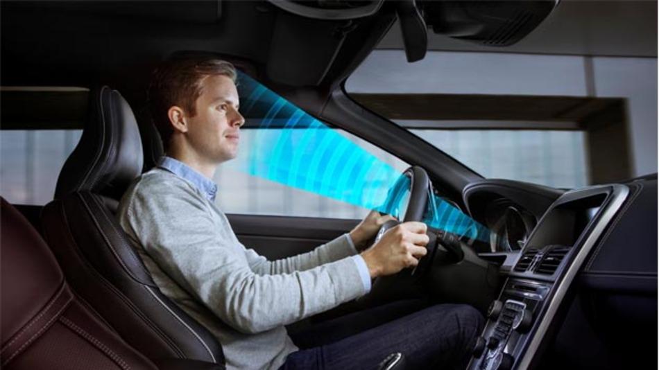 Volvo hat einen Sensor entwickelt, der registriert, wie weit die Augen des Fahrers geöffnet sind.