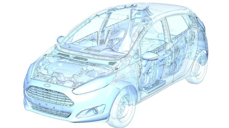 Ford setzt auf virtuelle Tests, um den Entwicklungsprozess seiner faserverstärkten Komponenten und deren Einsatz im Fahrzeug bei maximaler Sicherheit zu beschleunigen.