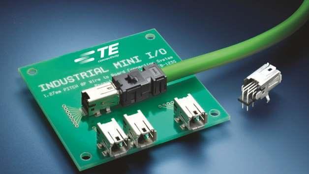 Den Steckverbinder Industrial Mini I/O will TE als neue Schnittstelle im Industrie-Umfeld etablieren.