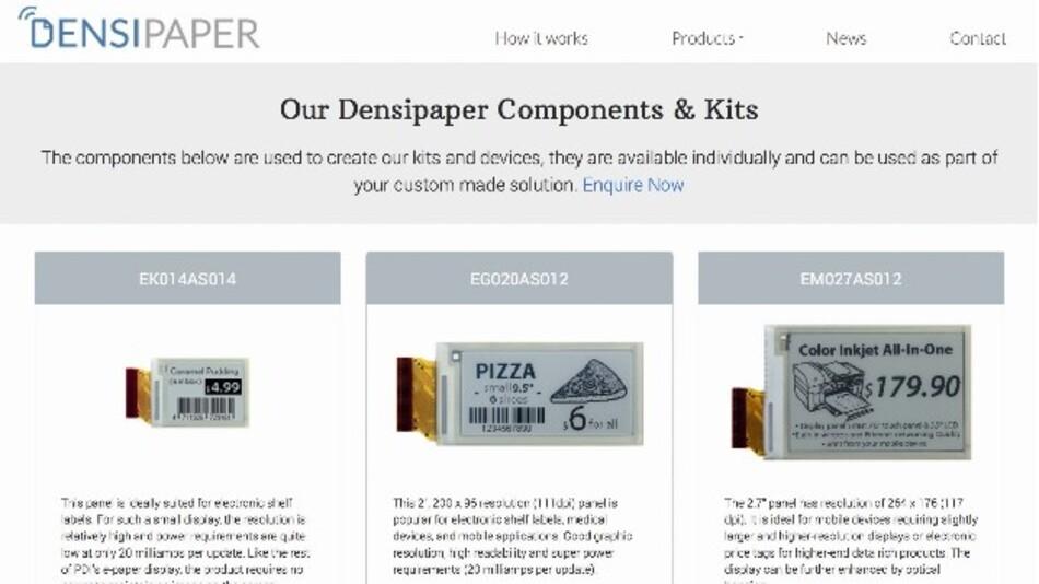 Densitron offeriert die gesamte Palette der energieeffizienten E-Paper-Displays von PDI nun auch online.