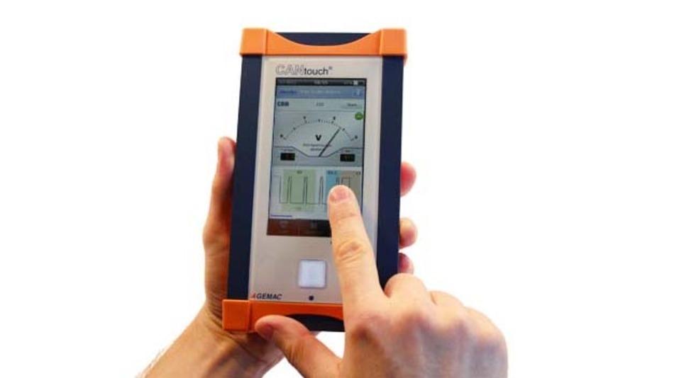 Das »CANtouch« ist sofort betriebsbereit an der CAN-Anlage und über intuitives Touchscreen zu bedienen.