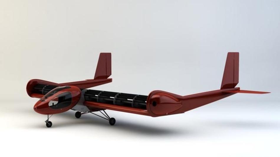 Modell eines FanWing-Ultraleichtflugzeugs