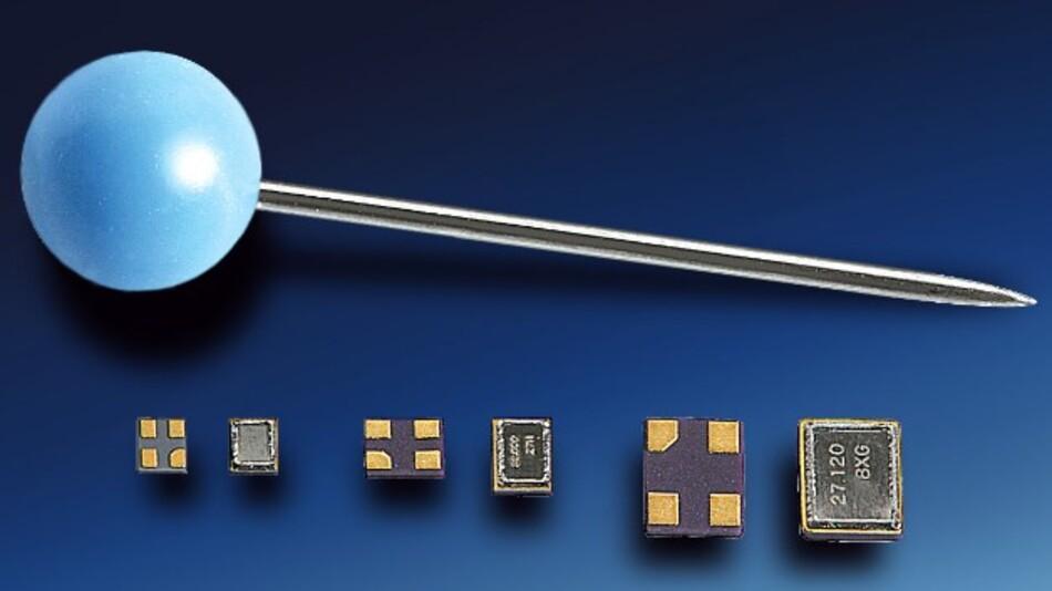 Einen Frequenzbereich von 36 bis 80 MHz im Grundton deckt Telconas SMD-Schwingquarz mit Abmessungen von 1,2 x 1,0 x 0,3 mm ab.