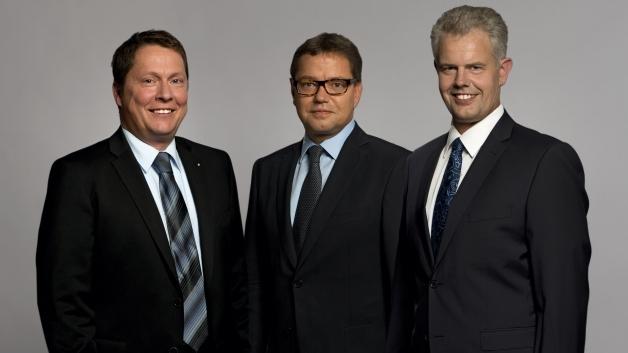 Die drei WAGO-Geschäftsführer Sven Hohorst, Axel Börner und Ulrich Bohling (v.l.).