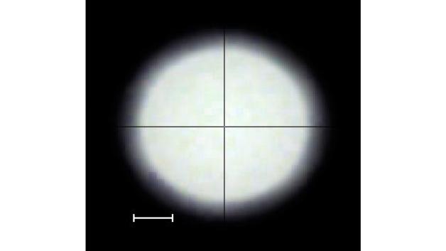 Bild 4. Mit Kondensoroptik erzeugtes Lichtfeld mit homogener Beleuchtungsstärkeverteilung und steilen Flanken.