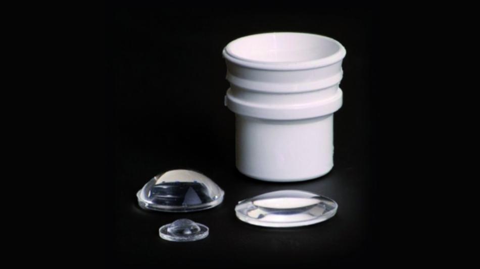 """Das Gießsilikon """"MS-2002 Moldable White Reflector Silicon"""" ist photothermisch stabil und lässt sich leicht verarbeiten, auch im Spritzguss."""