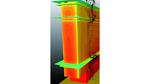 Die Rippen sorgen dafür, dass sich die Konstruktion mehr erwärmt und deshalb einen größeren Prozentsatz an Wärme abstrahlt.