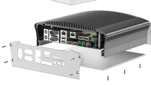 Für die bessere Wärmeableitung lüfterlos betriebener Embedded-PCs haben die U-förmigen Aluminium-Gehäuseprofile von Fischer Elektronik außenliegende Kühlrippen.