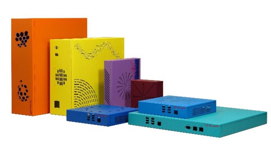 Für kleine und ungenormte Leiterplatten hat Pentair 21 Varianten der Gehäuse-Familie »Schroff Interscale M« entwickelt.