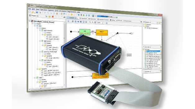 Die Kombination der UDE von PLS mit dem modellbasierten Software-Tool TPT von PikeTec ergibt eine durchgängige Debug-Lösung für den direkten PiL-Test auf tief eingebetteten Systemen.