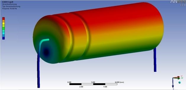 Bild 1. Elko schwingt mit der Eigenfrequenz bei 75 Hz