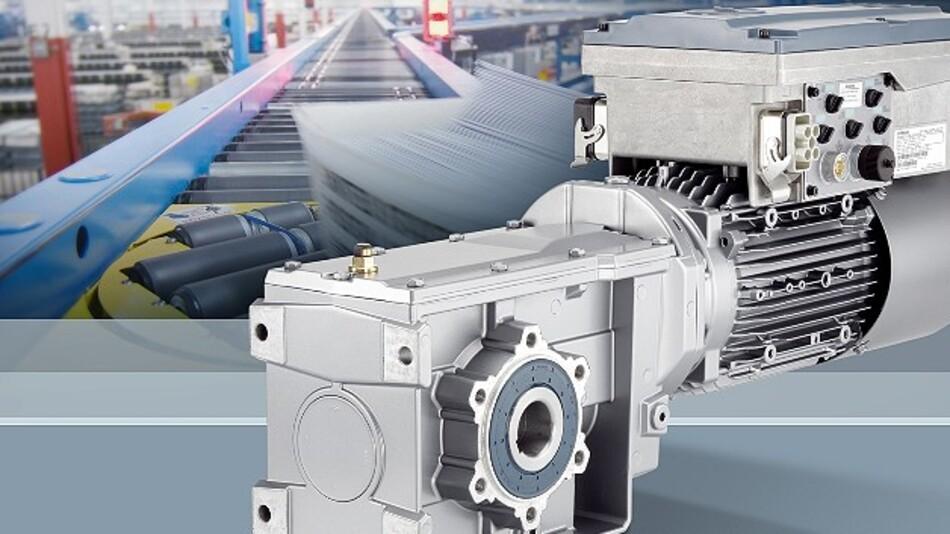 Ein »Integrated Drive System« (IDS) aus einem »Simogear«-Getriebemotor und dem Frequenzumrichter »Sinamics G110M«