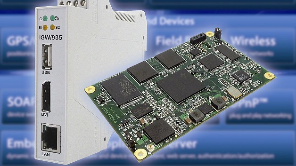 Ein kompaktes DIN-Hutschienen-Gateway dient als Grundlage für das IoT-Starterkit von SSV Software Systems.
