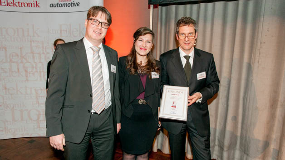 Mariela Mladenovic und Oliver Zink von Maxim nahmen die Auszeichnung ihres US-Kollegen Martin Stoehr entgegen.