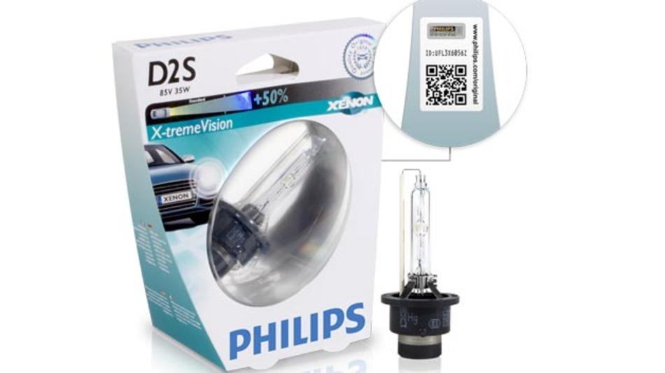 Philips geht gegen die Produktpiraterie von Xenon-Leuchten an und versieht seine Produkte mit einem Authentizitätssiegel.