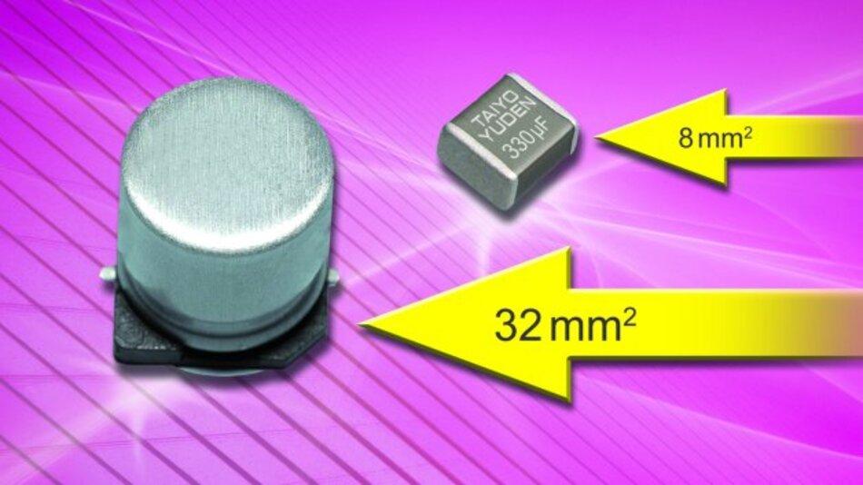 Taiyo Yuden produziert den weltweit ersten 330 µF SMD-Multilayer-Keramikkondensator