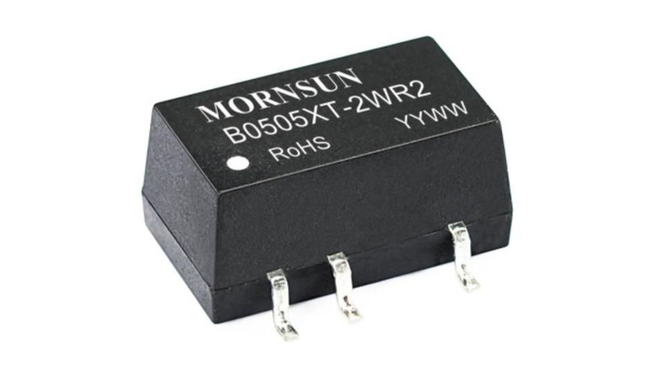 Die DC/DC-Wandler der »IF_XT-1 WR2«-Serie leiten aus Versorgungsspannungen von 5 V bzw. 12 V oder 24 V feste Ausgangsspannungen (5 V, 9V, 12 V oder 15 V) ab, die bis zu 3.000 V gegenüber der Eingangsspannung isoliert sind.