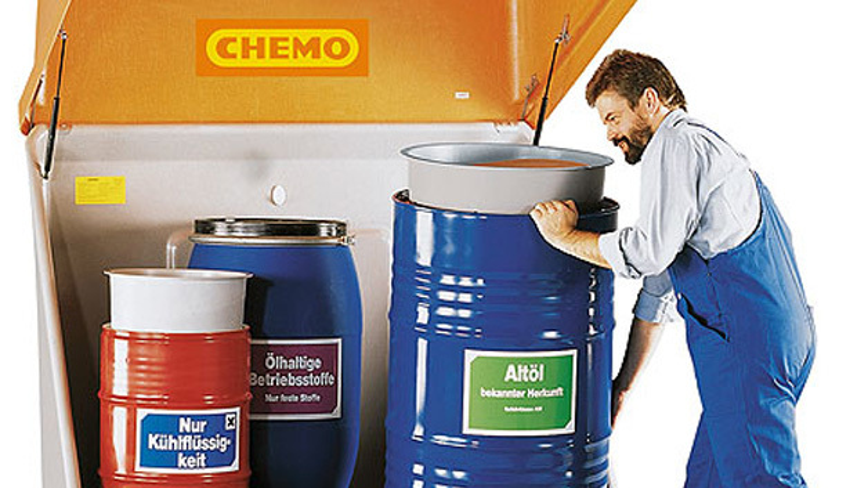 Gefährliche Chemikalien mit Chemo-Produkten sicher einlagern