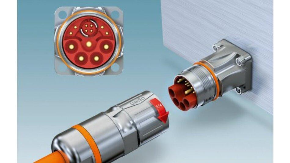 M23-Hybridsteckverbinder für die Signal-, Daten- und Leistungsübertragung