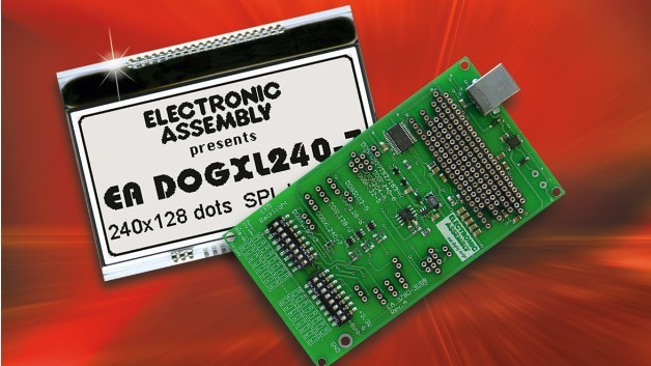 Electronic Assemblys Testboard EA 9780-3USB garantiert das schnelle Entwickeln und Testen von Display-Inhalten mit den Display-Familien EA DOG und EA eLABEL20.