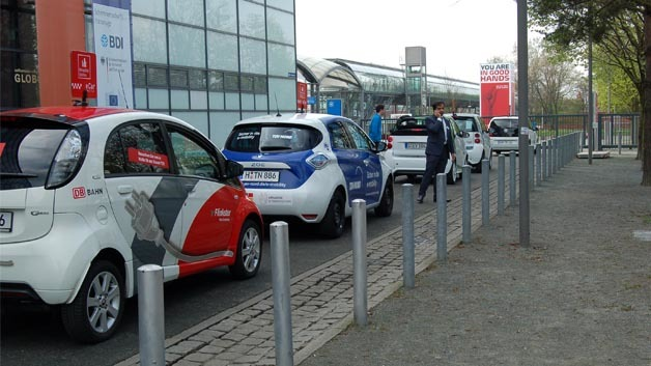 Durchgängig ein Thema: Elektromobilität auf der Hannover Messe