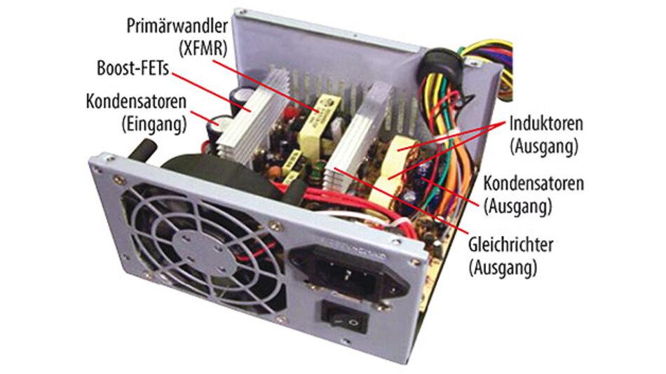 Bild 2. Klassische Stromversorgung wie das hier gezeigte ATX12V-Silverbox-Netzgerät bieten nur eine geringe Leistungsdichte sowie einen fixen Formfaktor.
