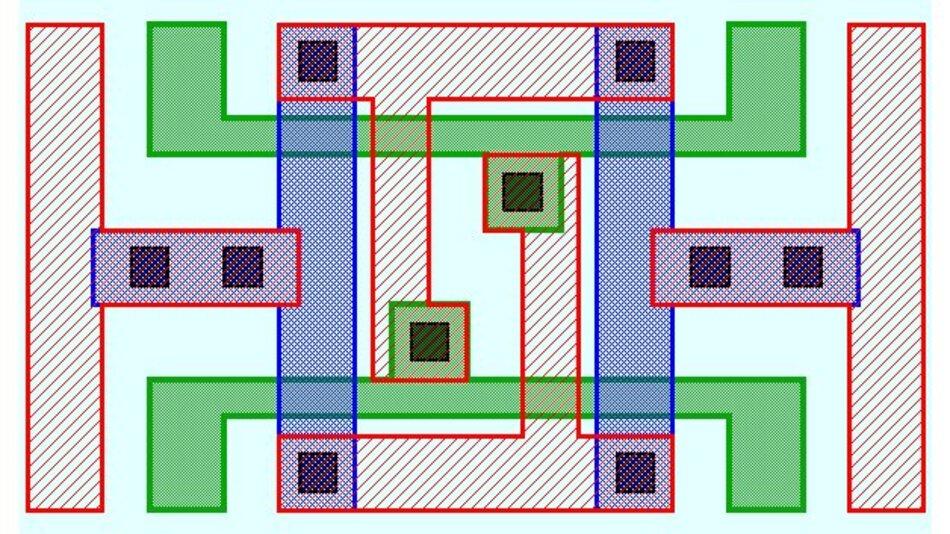 Bild 1. Visuelles Muster einer relativ einfachen Layout-Geometrie, die mit einer textbasierten Syntax nur schwer zu beschreiben ist