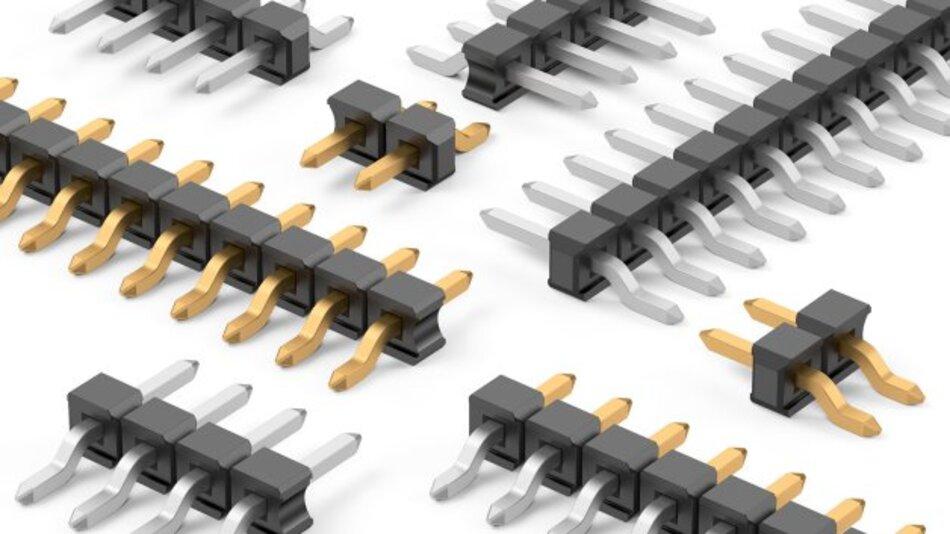 Platzsparende Steckverbinder-Ausführung im Raster 2,54 mm