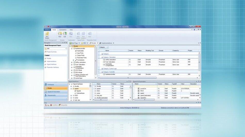 Synect-Model-Management: Komfortable Verwaltung von Funktions- und Simulationsmodellen zusammen mit allen zugehörigen Daten.
