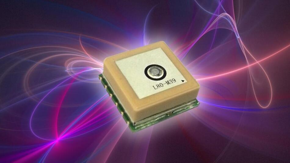 Ultrakompaktes GPS-Modul mit integrierter Patchantenne