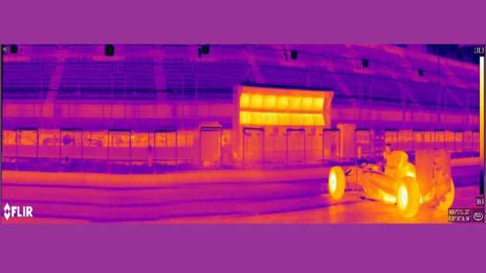Künftig sollen die Miniatur-Wärmebildkameras von FLIR dem Formel-1-Rennstall Infiniti Red Bull Racing wertvolle Aufschlüsse über das Temperaturverhalten einzelner Fahrzeugkomponenten liefern.