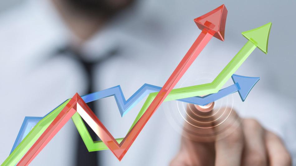 Wachstum Zuwachs Umsatzplus Aufwärtstrend Boom